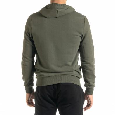 Basic мъжки зелен суичър тип анорак tr020920-30 3