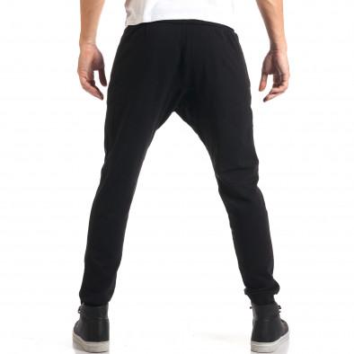 Мъжки черни потури със сребристи ципове it160916-48 3