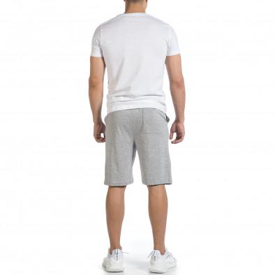 Мъжки комплект Awesome в бяло и сиво it040621-5 4
