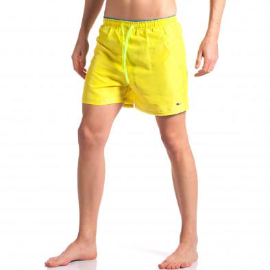 Жълти мъжки бански с джобове Graceful 4