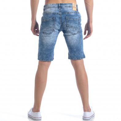 Мъжки къси дънки с декоративни скъсвания it050617-29 3