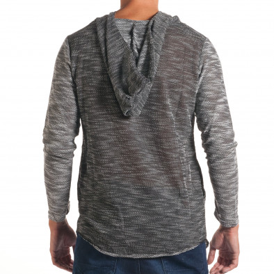 Мъжки тъмно сив суичър с асиметрична кройка it240816-2 3