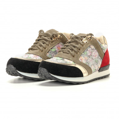 Дамски маратонки на цветя с дантела it200917-53 3