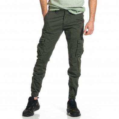 Мъжки зелен карго панталон Jogger & Big Size tr270421-11 2