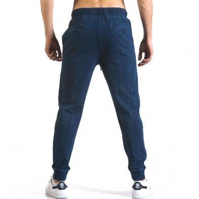 Мъжки сини потури с ефект на дънки със сини връзки it090216-58 3