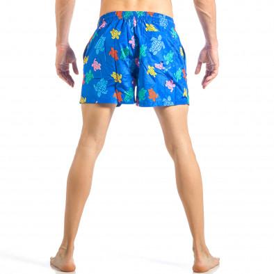 Мъжки син бански на цветни костенурки it040518-104 4