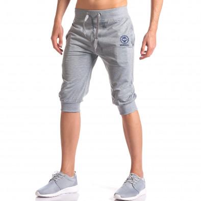 Мъжки сиви къси потури със странични джобове it250416-14 4