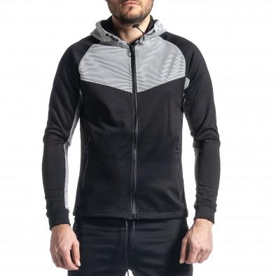 Мъжки черно-бял анцуг Biker style it010221-59 4
