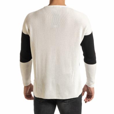 Oversize пуловер с графични блокове it301020-28 3