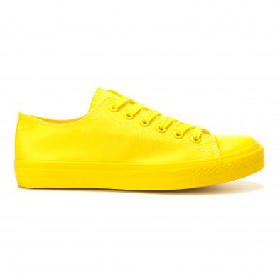 Мъжки жълти кецове с гумена част отпред it260117-39 2