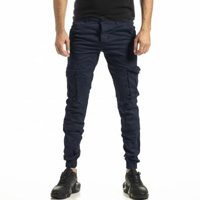 Син мъжки панталон Cargo Jogger tr161220-21 2