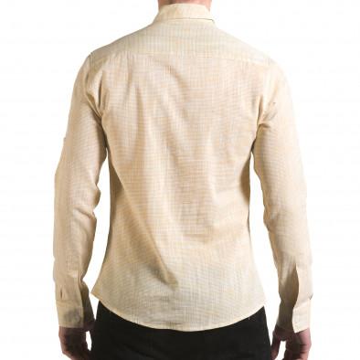 Мъжка жълта риза изчистен модел il170216-121 3