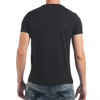 Мъжка черна тениска с надпис Dark Black Just Relax 4