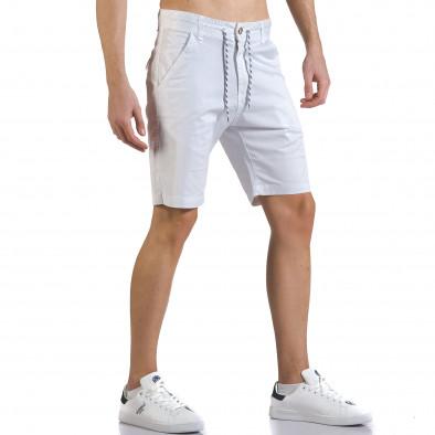 Мъжки бели къси панталони с връзки it110316-37 4