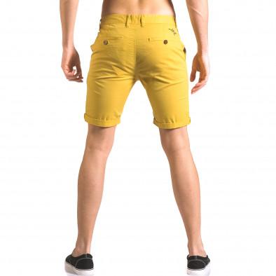 Мъжки жълти къси панталони с италиански джобове ca050416-59 3