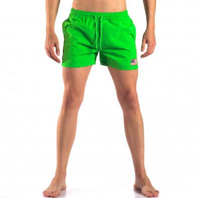 Мъжки зелени бански с Американското знаме it150616-28 2