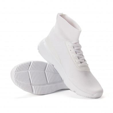 Комбинирани бели мъжки маратонки тип чорап  it020618-18 4