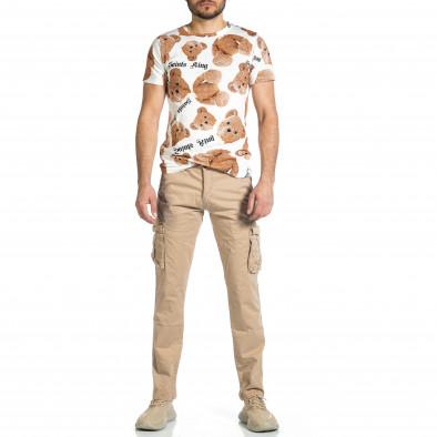 Мъжки бежов панталон с прави крачоли & Big Size tr270421-16 4