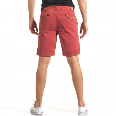 Мъжки червени къси панталони с малки черни точки it140317-155 3