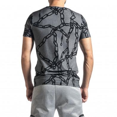 Мъжка тениска Chains сив меланж tr010221-24 3