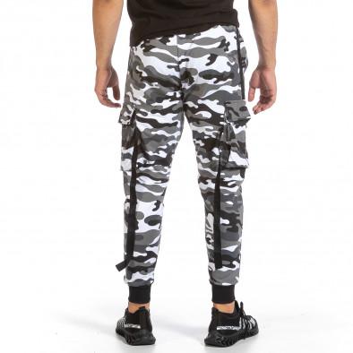 Мъжко Hip Hop долнище черно-бял камуфлаж it240621-38 4