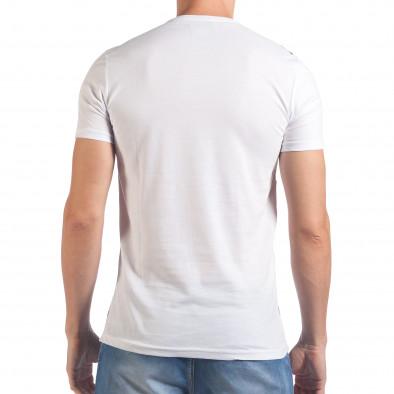 Мъжка бяла тениска с надпис California il060616-63 3