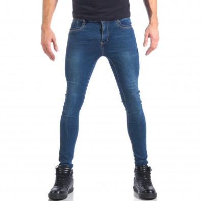 Мъжки дънки супер слим фит изчистен модел it041217-48 2