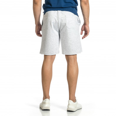 Трикотажни мъжки сиви шорти с принт tr150521-22 3