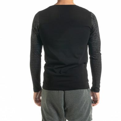 Мъжка черна блуза с принт tr020920-47 3