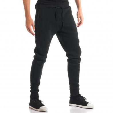 Мъжки черни потури с ципове на джобовете ca280916-11 4