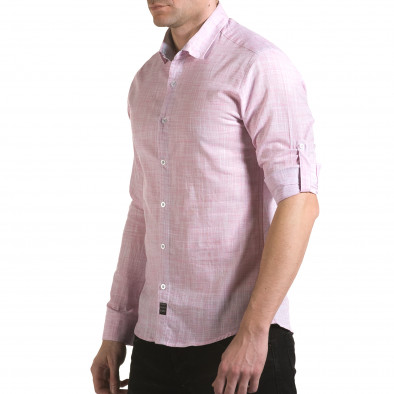 Мъжка розова риза изчистен модел il170216-124 4