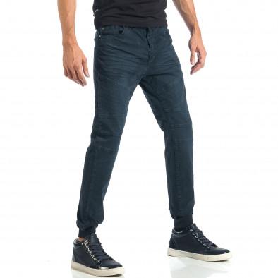 Мъжки сиво-син панталон с еластични маншети на крачолите it260917-52 4