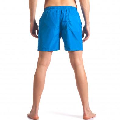 Мъжки сини бански с малка емблема it250416-53 3