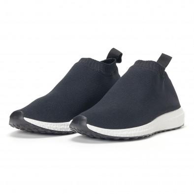 Мъжки slip-on маратонки тип чорап в черно it160318-37 3