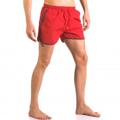 Червени мъжки бански тип шорти с 3 джоба ca050416-11 4