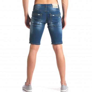 Мъжки дънкови панталони къси със скъсвания it250416-32 3