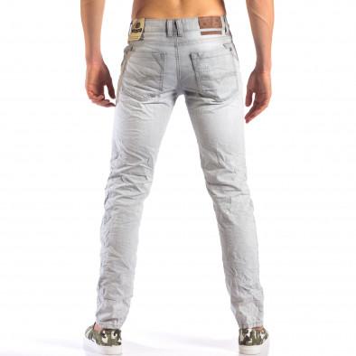 Мъжки сиви дънки с големи скъсвания it160616-21 3