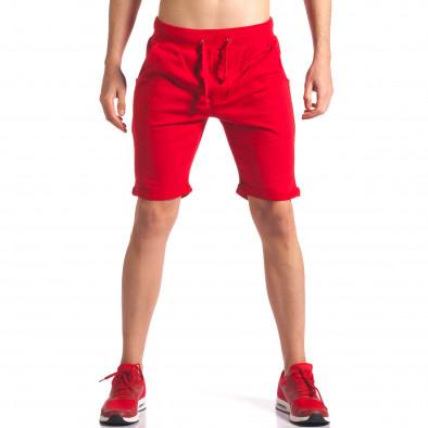Червени мъжки шорти за спорт it260416-26 2