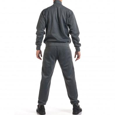 Мъжки тъмно сив спортен комплект с релефен надпис N&Y it160916-81 3