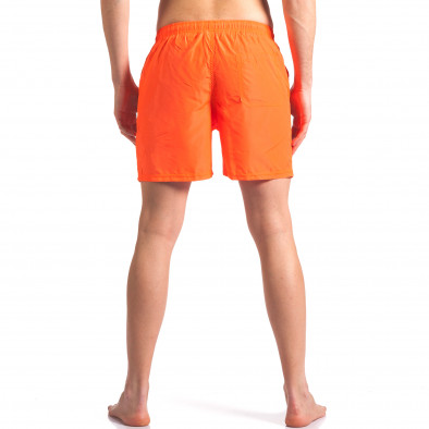 Мъжки неоново оранжеви бански с малка емблема it250416-50 3