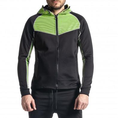 Мъжки черно-зелен анцуг Biker style it010221-58 4