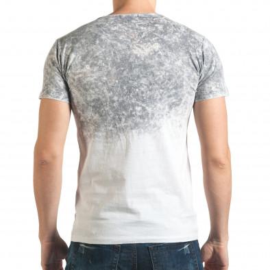 Сива мъжка тениска с надпис il140416-54 3