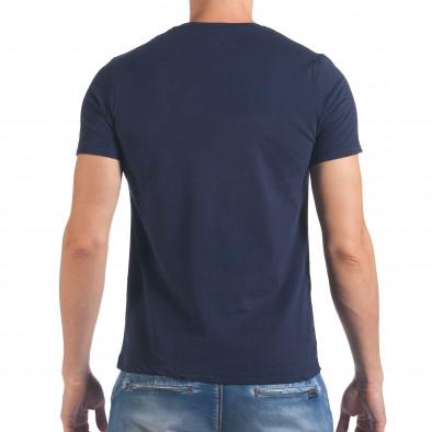 Мъжка тъмно синя тениска Try Your Best il060616-17 3