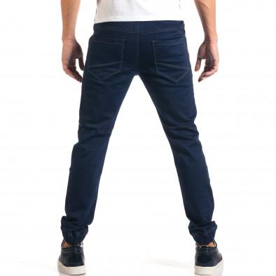 Мъжки тъмно сини дънки с ластик на кръста it160916-7 3