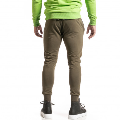 Мъжко зелено долнище от стегнато трико it261120-5 4
