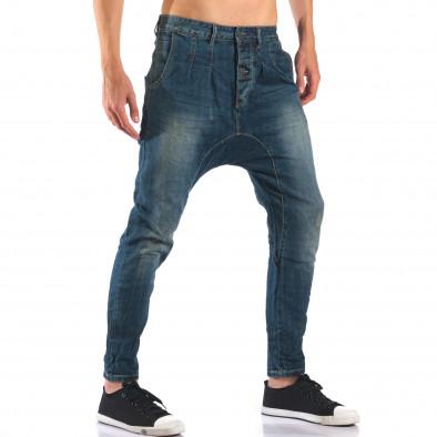 Мъжки дънки със смъкнато дъно тип потури it160616-33 4