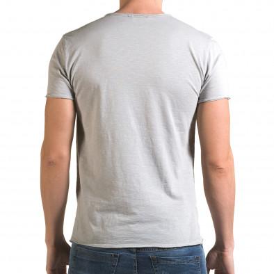 Мъжка сива тениска изчистен модел it090216-77 3