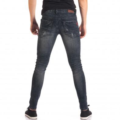Мъжки сиви дънки със скъсвания на коленете it150816-33 3