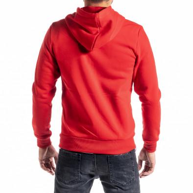 Мъжки червен суичър с цип Brooklyn it300920-43 3