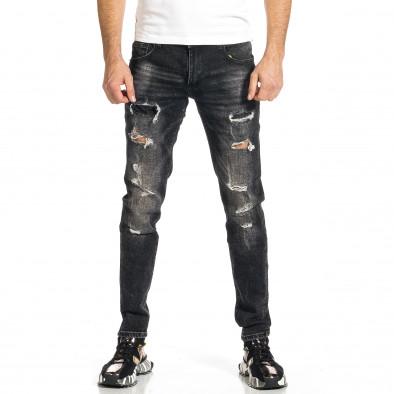 Мъжки черни дънки Destroyed  gr270421-19 2